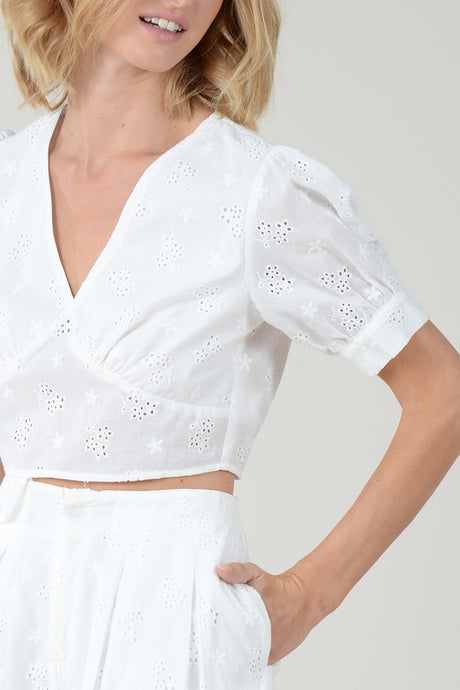 English Eyelet Crop Top