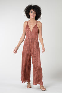 Retro Rust Jumpsuit
