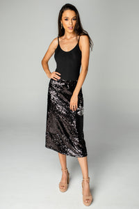Buddy Love Cardi Sequin Skirt