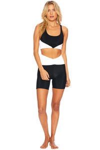 CORA BIKE SHORT BLACK & WHITE