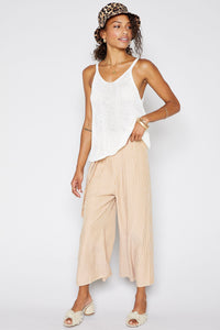 Canary Stripe Culotte Pants