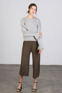 Chestnut Knit Culottes