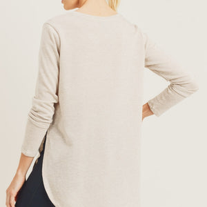 Long Sleeve Side Slit Top