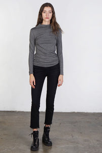 Mock Neck Jersey Knit Top
