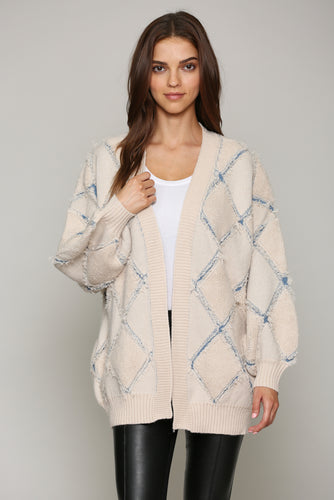 Diamond Lattice Cardigan