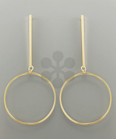 Bar and Circle Earrings