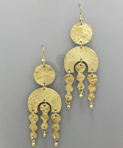 Hammered Geo Earrings