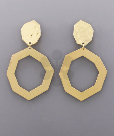 Octagon Disk Earrings
