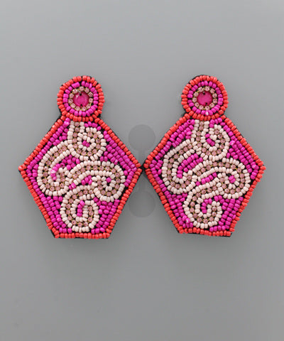 Pentagon Bead Earrings