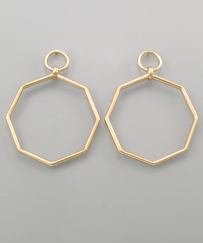 Octagon Cut Out Earrings