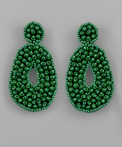 Bubble Bead Teardrop Earring