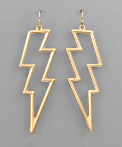 Cutout Lightning Bolt Earrings