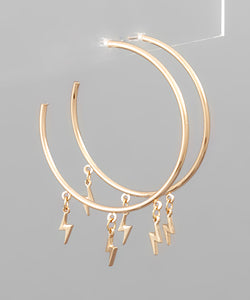 Lightning Dangle Hoops