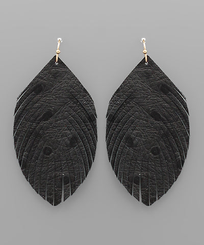 Ostrich Leaf Earrings