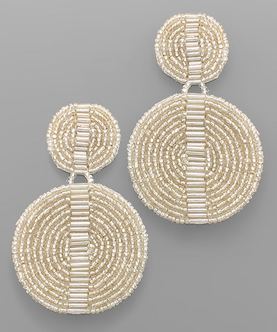 Shiny Disk Bead Earrings