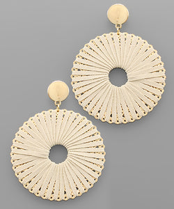 Suede Wrapped Circle Earrings