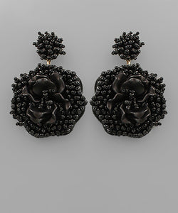 Bead Flower Earrings