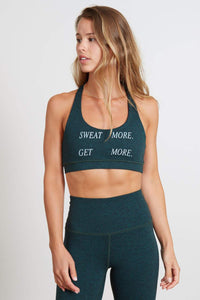 Sweat More Get More Sports Bra
