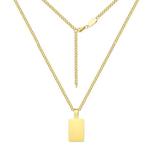 Blank Square Pendant Necklace