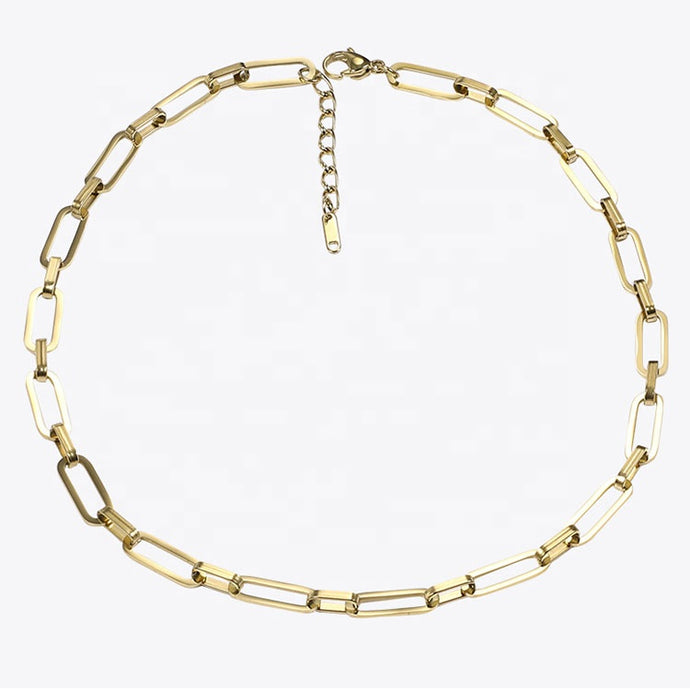 Square Chain Link Necklace