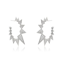Large CZ Spike Hoops