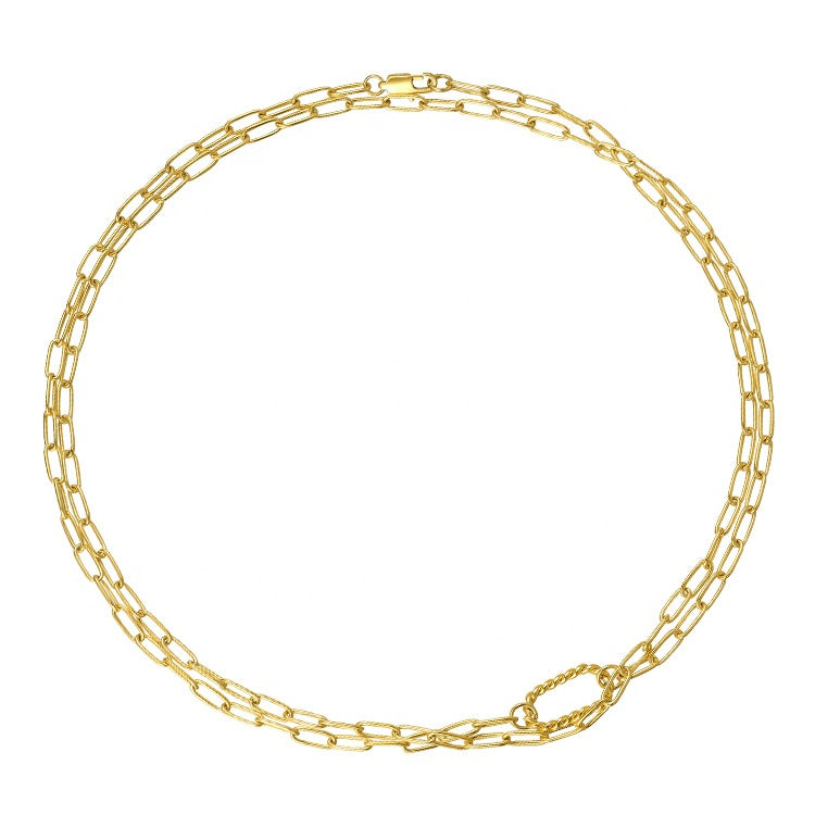 Wrap Around Gold Chain Necklace