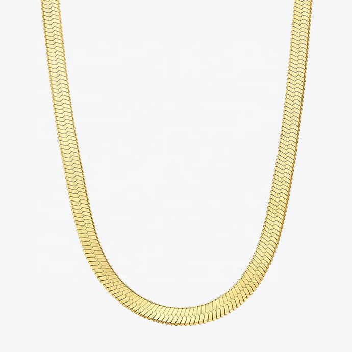 Wide Smooth Chain Necklace