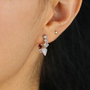 Small CZ Spike Hoops