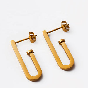 Small Matte J Earrings
