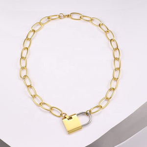 Padlock Link Necklace
