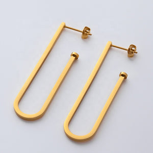 Large J Earrings