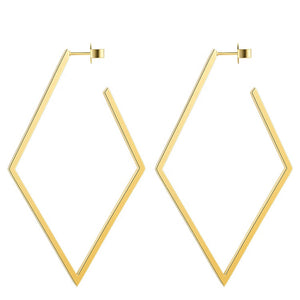 Large Gold Rhombus Earring