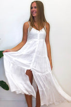 White Button Maxi Dress
