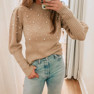 Taupe Pearl Sweater