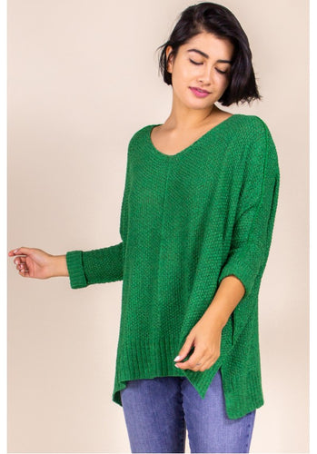 Kelly Green Pullover Sweater