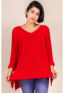 Bright Red Pullover Sweater