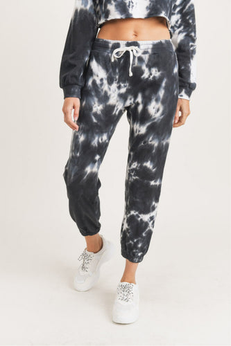 Black and White Tie Dye Jogger