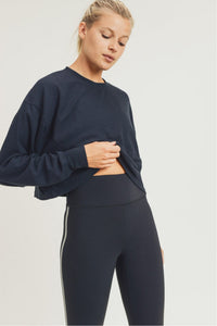 All-Over Ribbed Cropped Pullover