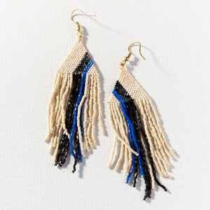 Ivory Lapis And Black Luxe Bead Earring