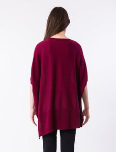 Red Wine Asymmetrical Sweater