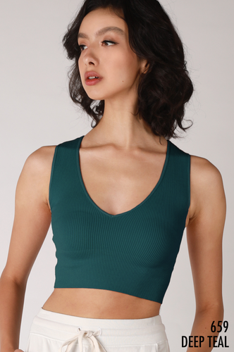 Plunge V-Neck Crop Top