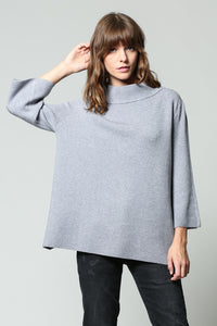 Heather Grey Bell Sleeve Sweater