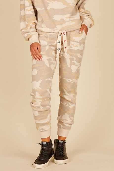 Light Camo Fleece Joggers