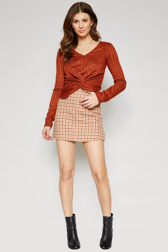 Greenwich Checked Skirt