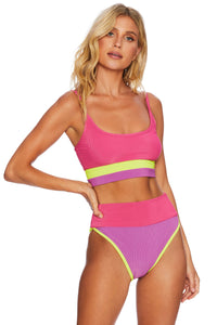 BEACH RIOT EVA TOP LIME PUNCH COLORBLOCK