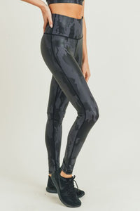 Camo Foil High Waist Leggings
