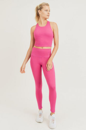 Fuchsia Sport Crop Top