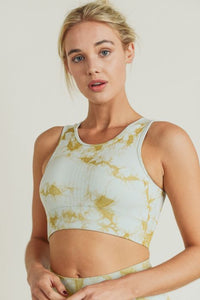 Cool Tones Tie Dye Sports Bra