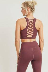 Mulberry Lattice Sports Bra