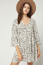 Almond Knit Spots Dress